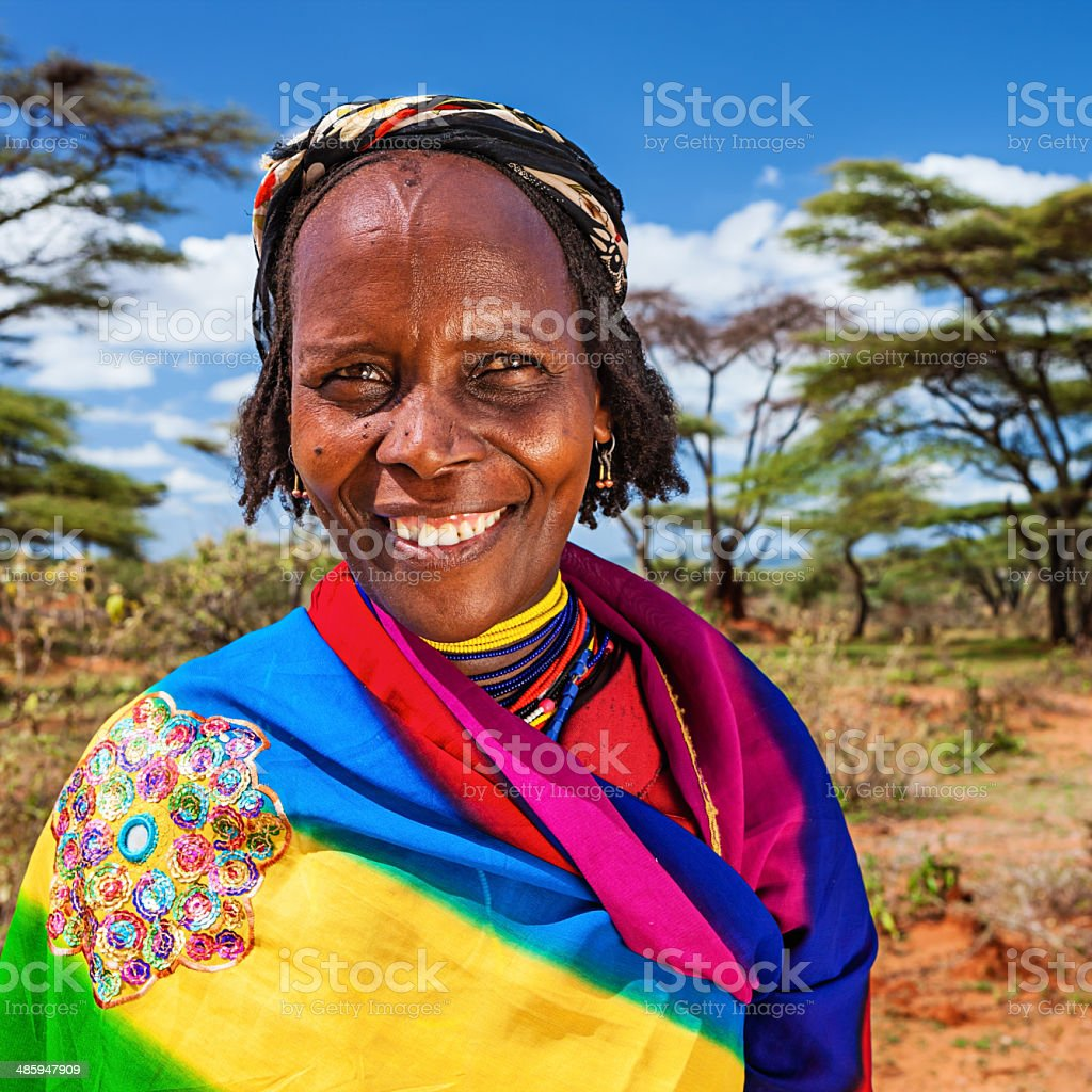 Portrait of woman from Borana, Ethiopia, Africa stock photo