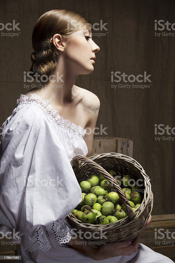 Portrait of  woman in Wedding dress. Professional makeup and hai royalty-free stock photo
