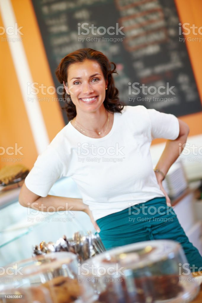 Portrait of woman shop assistant royalty-free stock photo