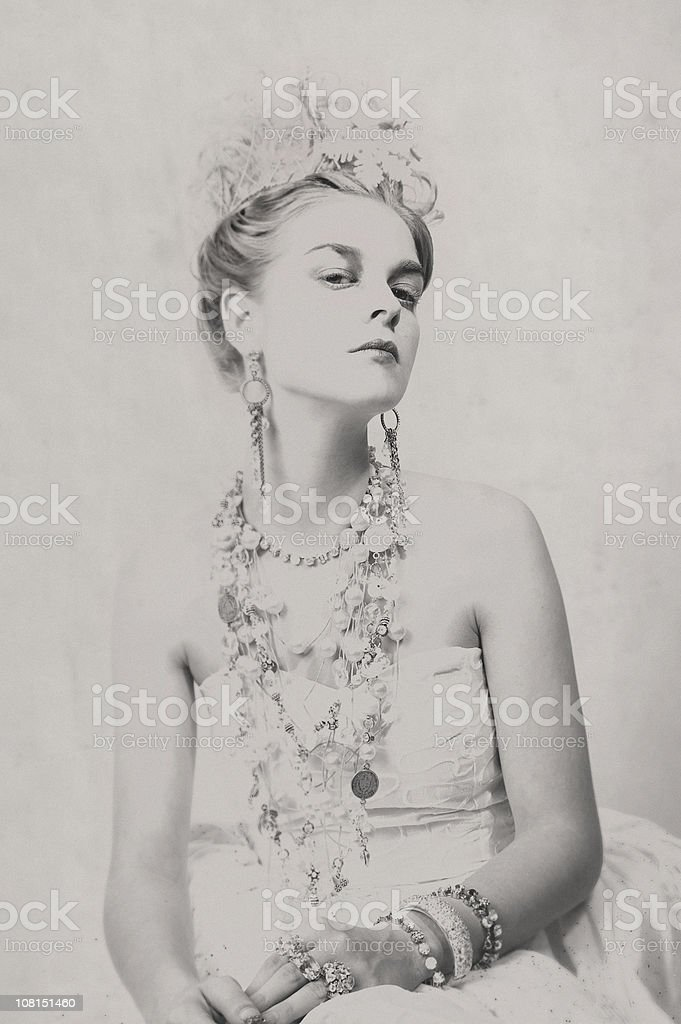 Portrait of Woman - Toned royalty-free stock photo