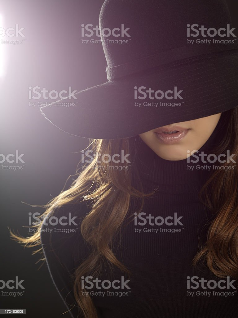 portrait of woman unrecognizable royalty-free stock photo