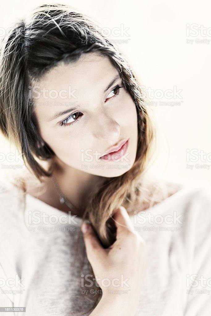 Portrait Of Woman With Braid royalty-free stock photo