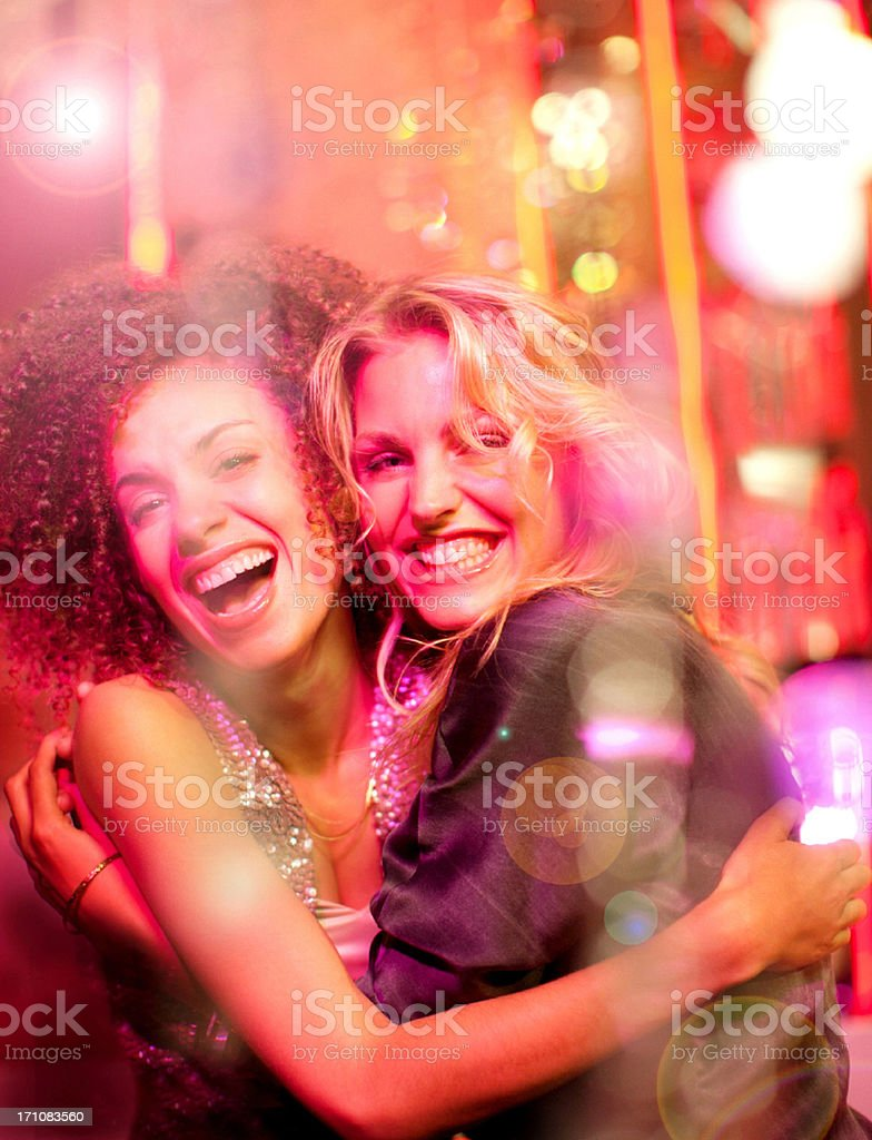 Portrait of women at nightclub royalty-free stock photo
