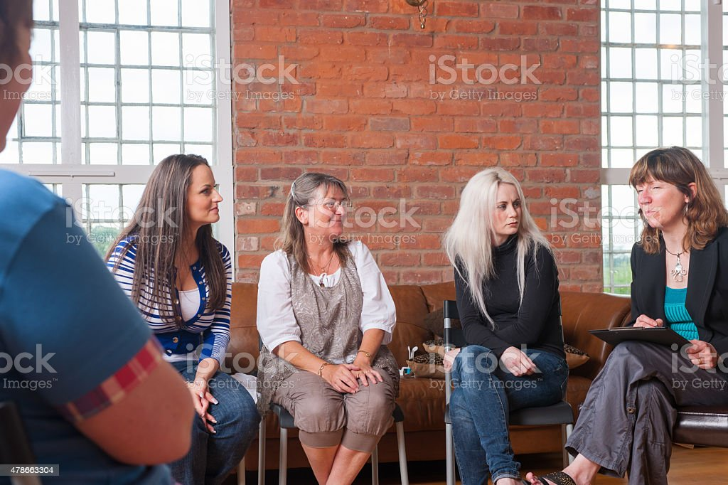 Portrait Of Women's Support Group stock photo