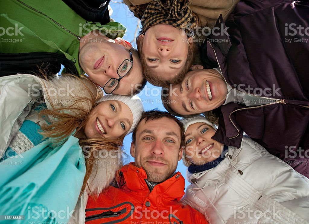 Portrait of young adult friends royalty-free stock photo