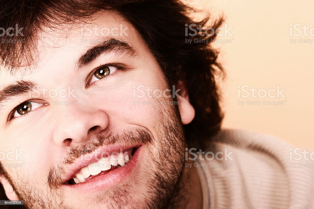 portrait of young adult men smiling stock photo