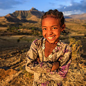 Portrait of young African girl, East Africa