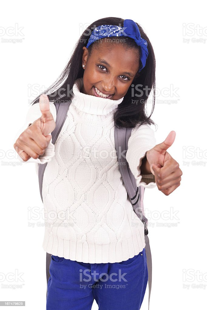 Portrait of young african student royalty-free stock photo