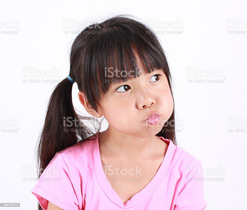 Porträt von junge wütend Mädchen. Lizenzfreies stock-foto