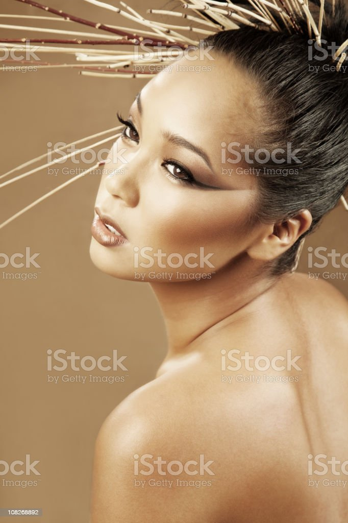 Portrait of Young Asian Woman Posing royalty-free stock photo