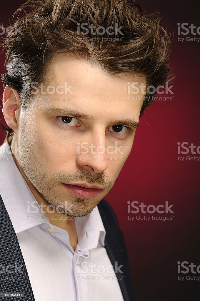 Portrait of young attractive man stock photo
