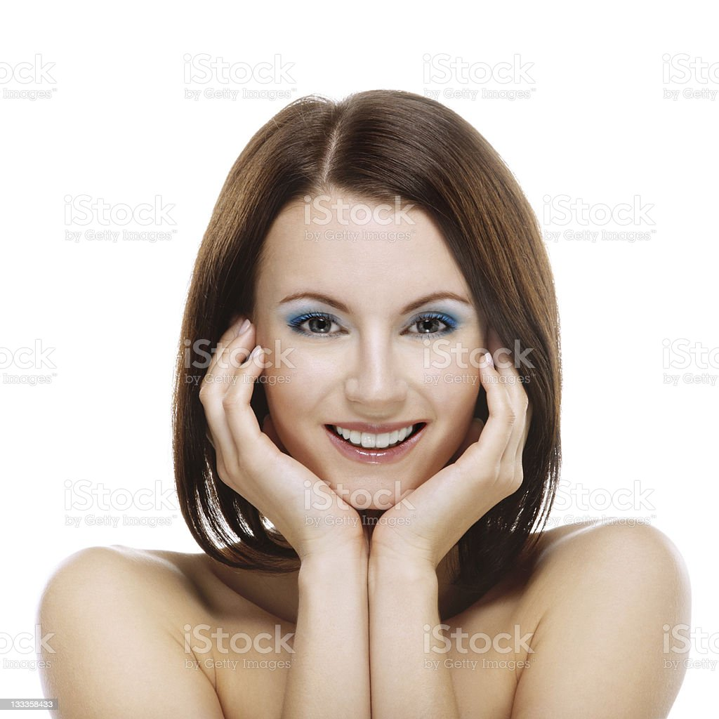 portrait of young attractive smiling woman royalty-free stock photo