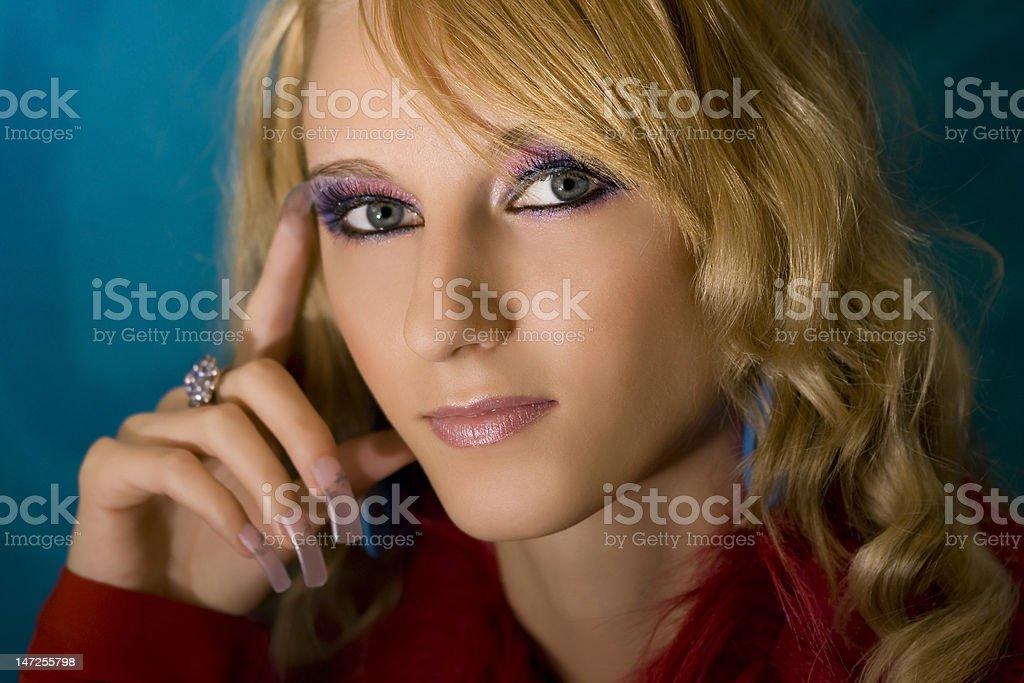 Retrato de jovem bonito Menina de loiro foto de stock royalty-free