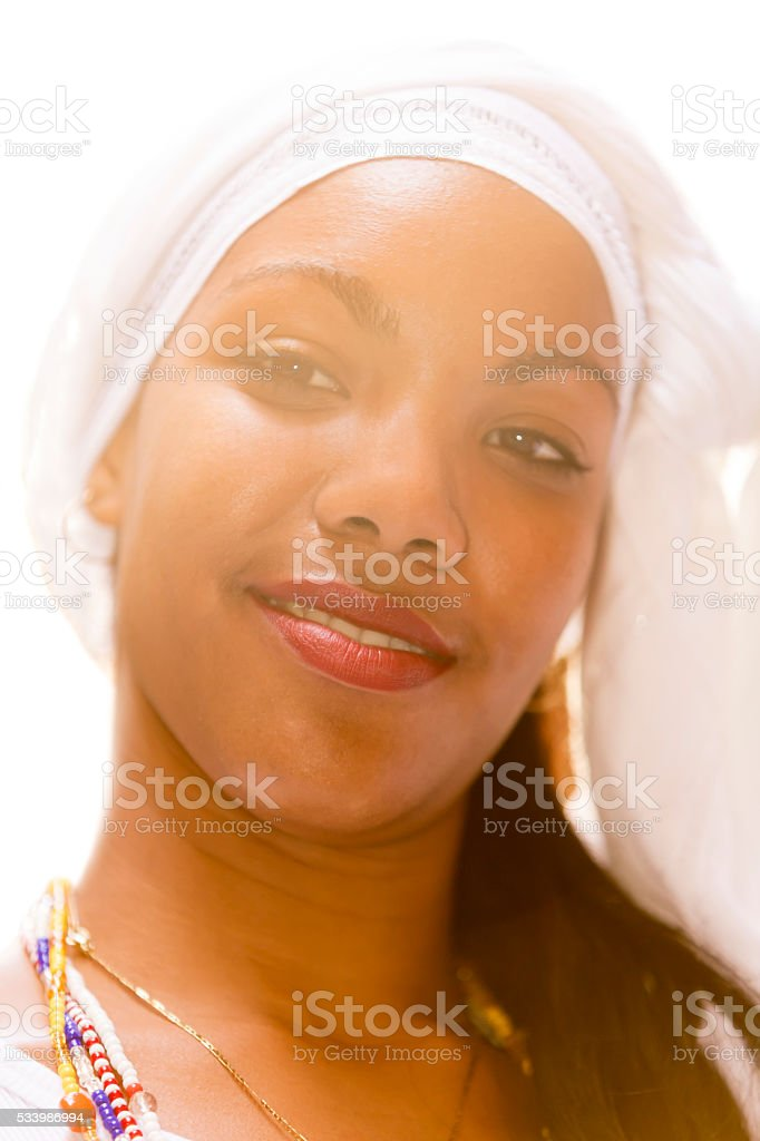 Portrait of Young, Beautiful Cuban Woman, Havana, Cuba stock photo