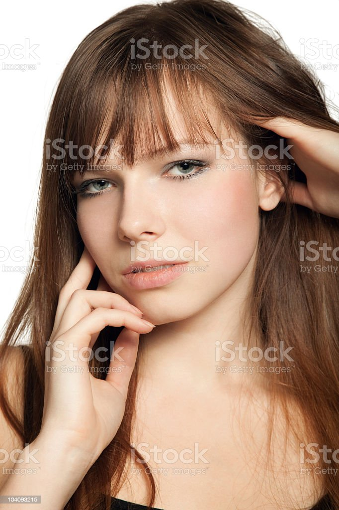 portrait of young beautiful girl royalty-free stock photo