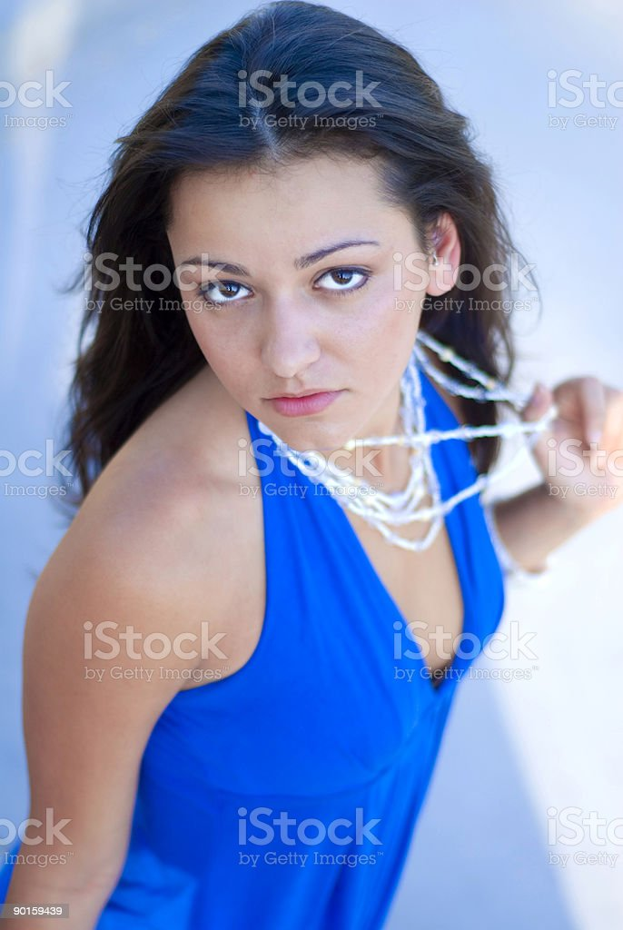 Portrait of young beautiful model royalty-free stock photo