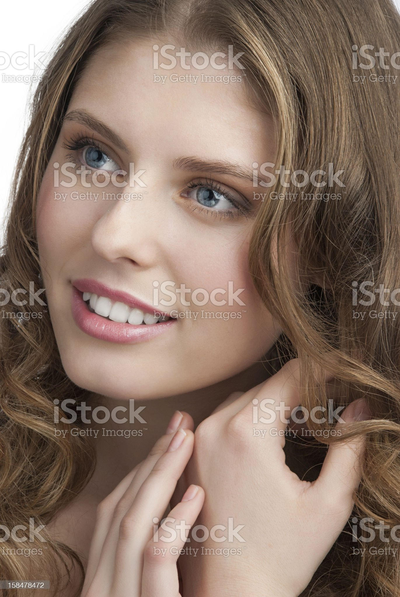 Portrait of young beautiful woman royalty-free stock photo