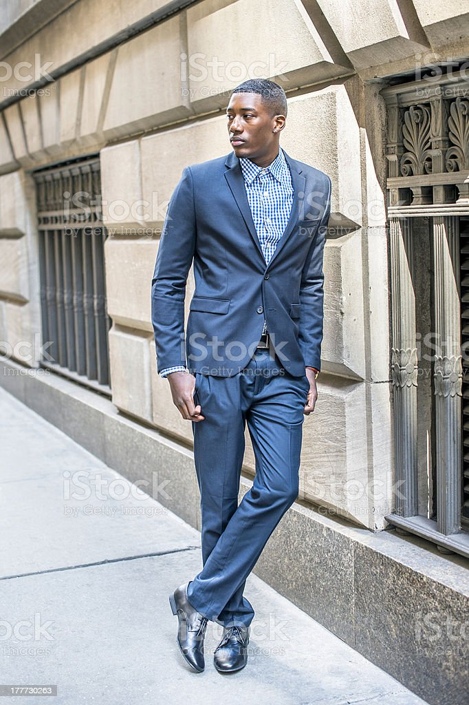 Portrait of Young Black Businessman stock photo
