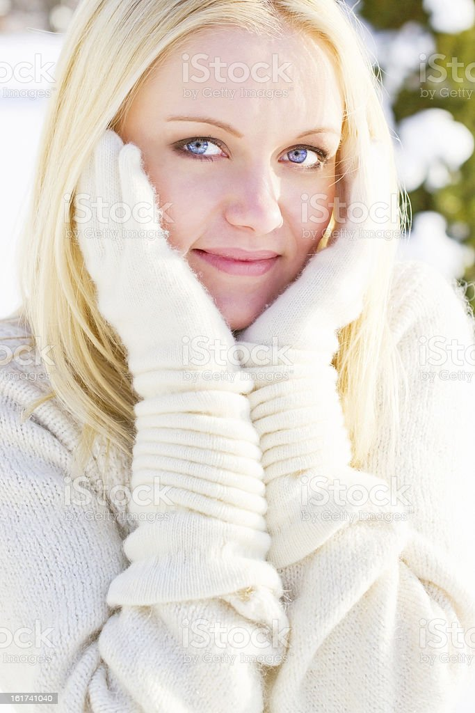 Portrait of young blonde royalty-free stock photo