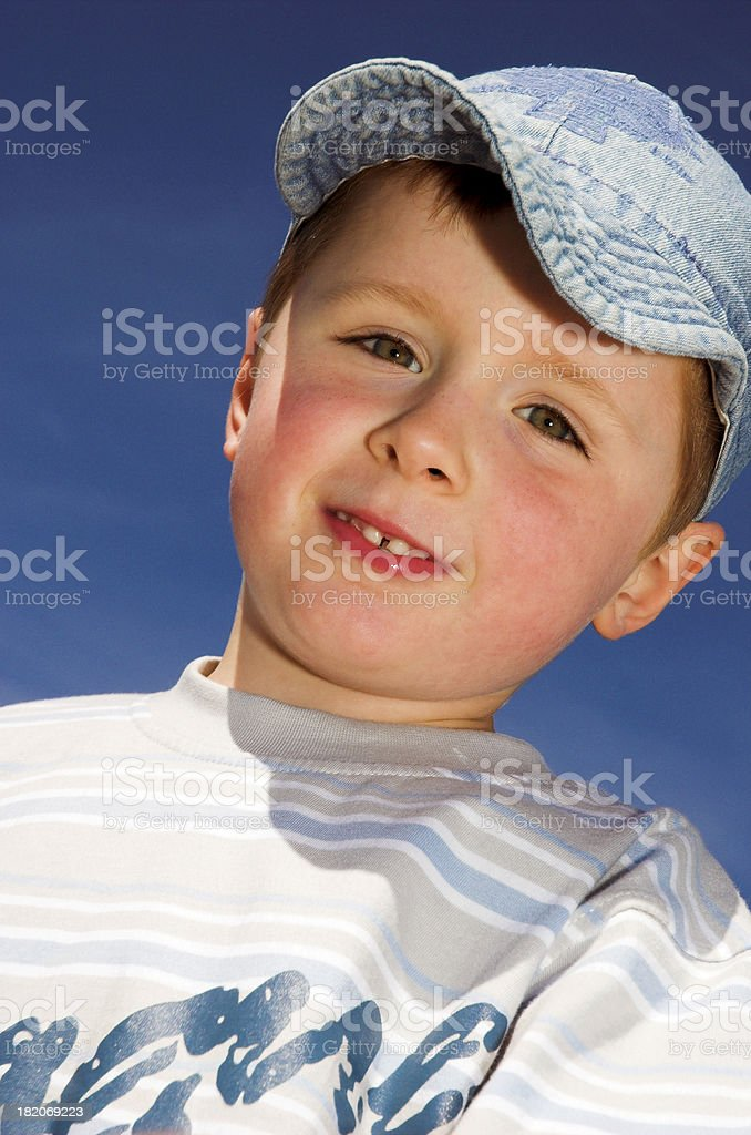 Portrait of young boy royalty-free stock photo