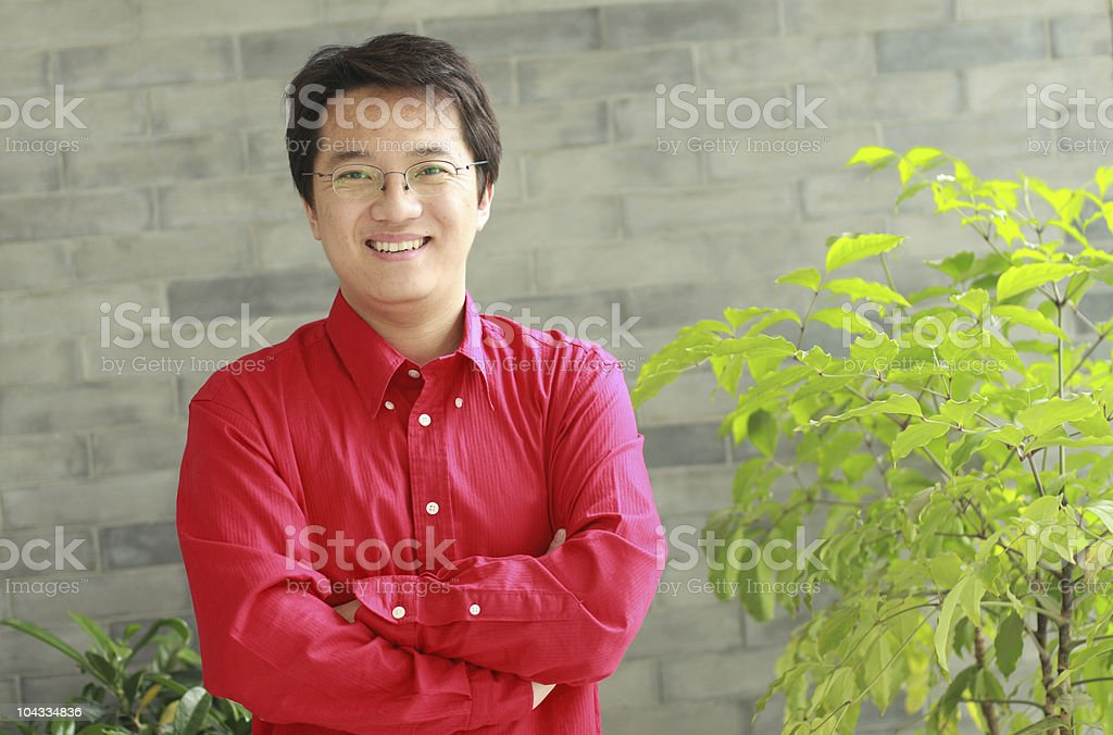 portrait of young businessman stock photo