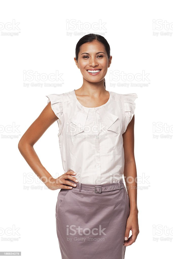Portrait of Young Businesswoman. Isolated. royalty-free stock photo