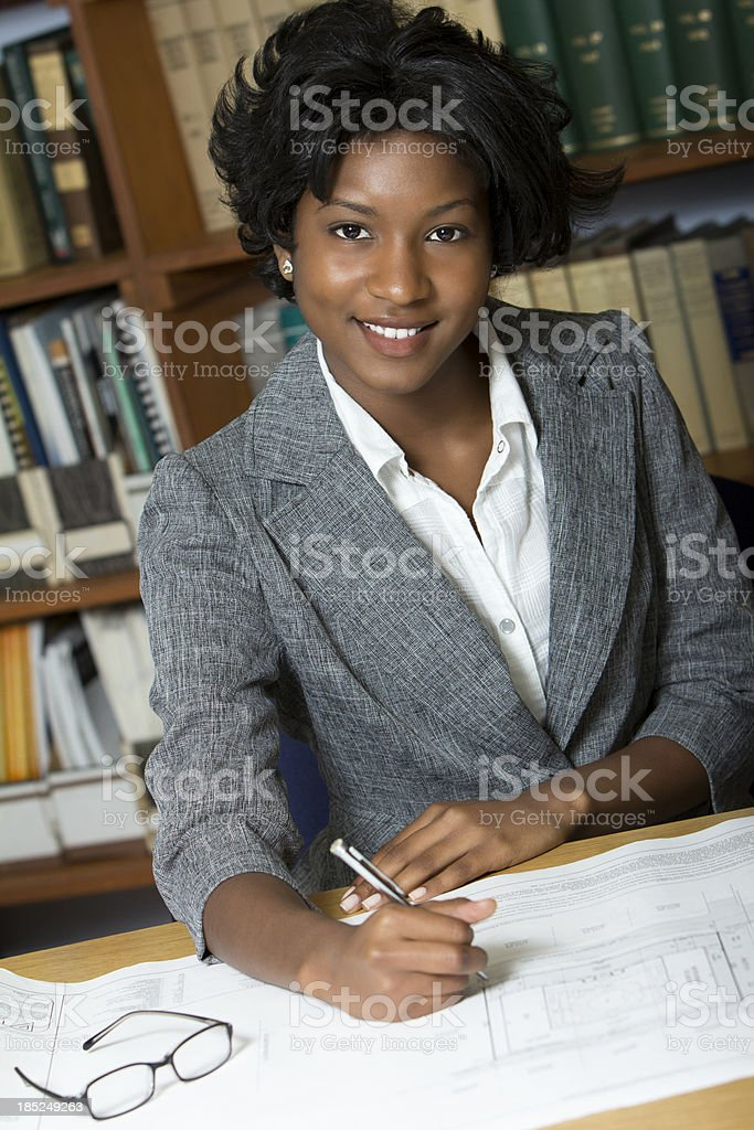 Portrait of young businesswoman stock photo