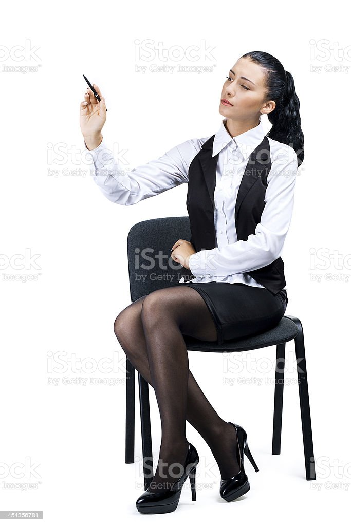 Portrait of young businesswoman royalty-free stock photo