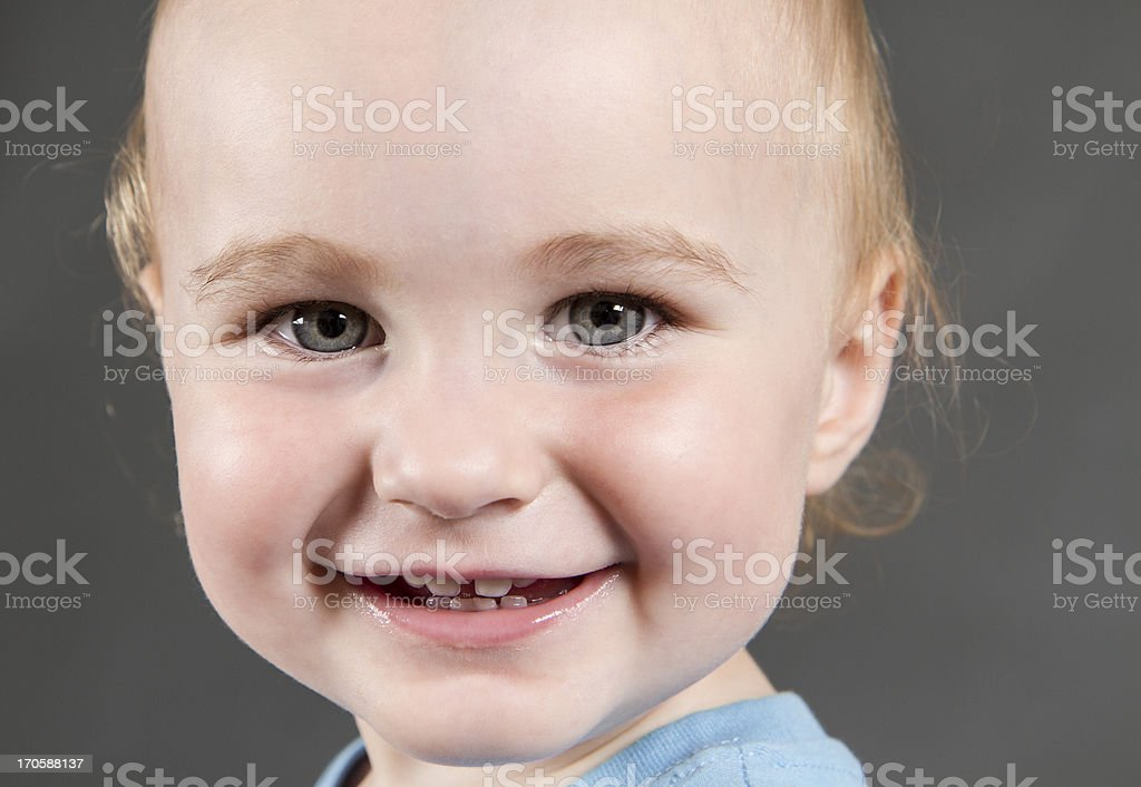 portrait of young child stock photo