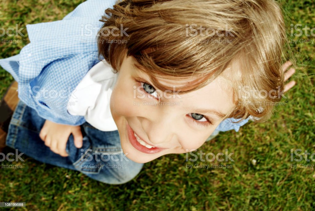 Portrait of Young Child Smiling royalty-free stock photo