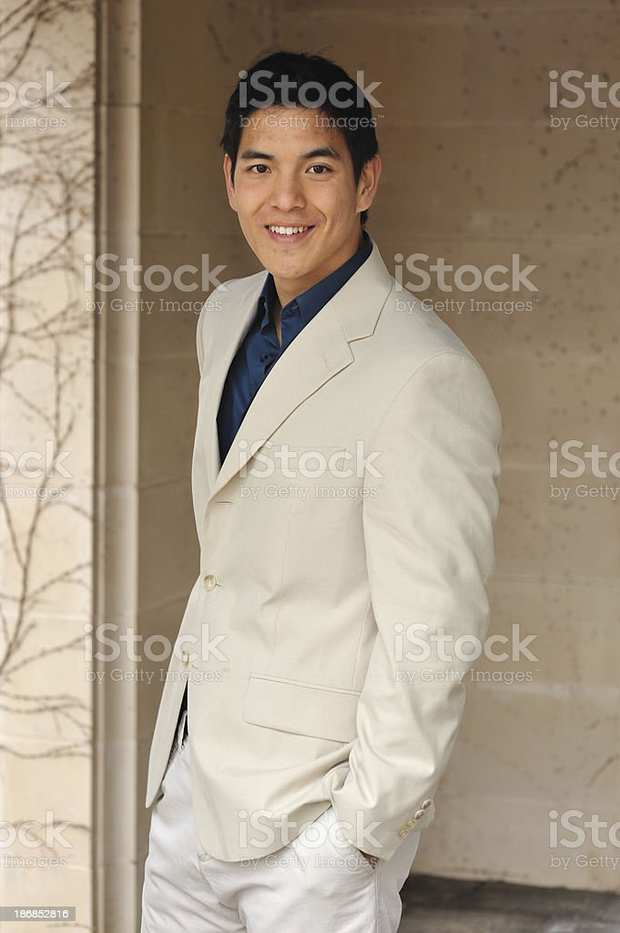 Portrait of young Chinese man royalty-free stock photo