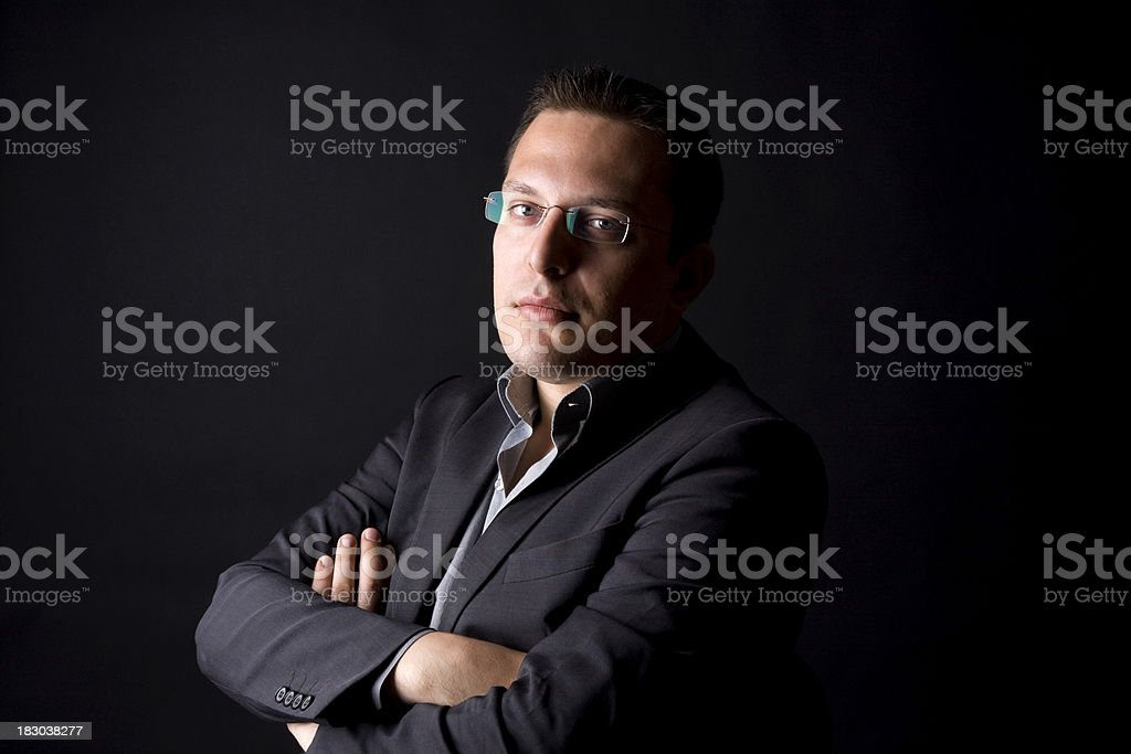 Portrait of young confident businessman royalty-free stock photo