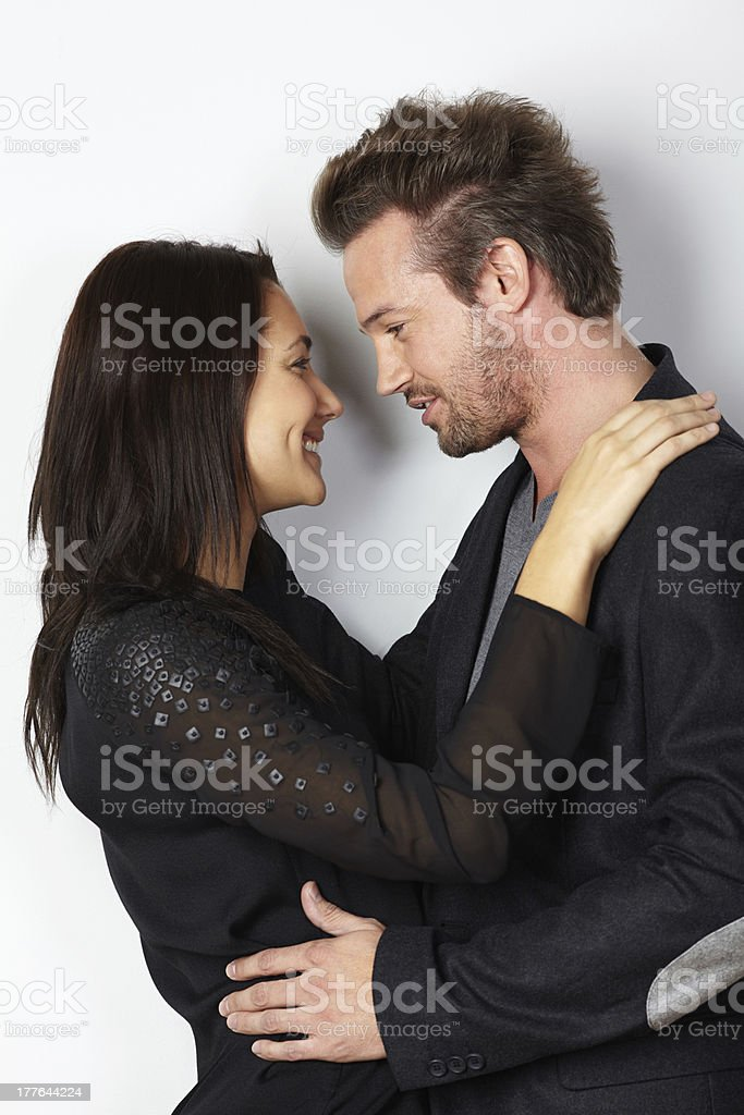 Portrait of young couple in love royalty-free stock photo