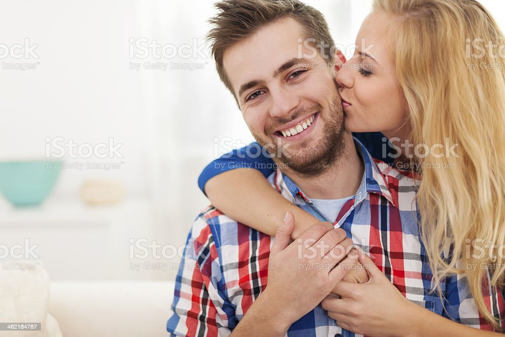 Portrait of young couple in love stock photo