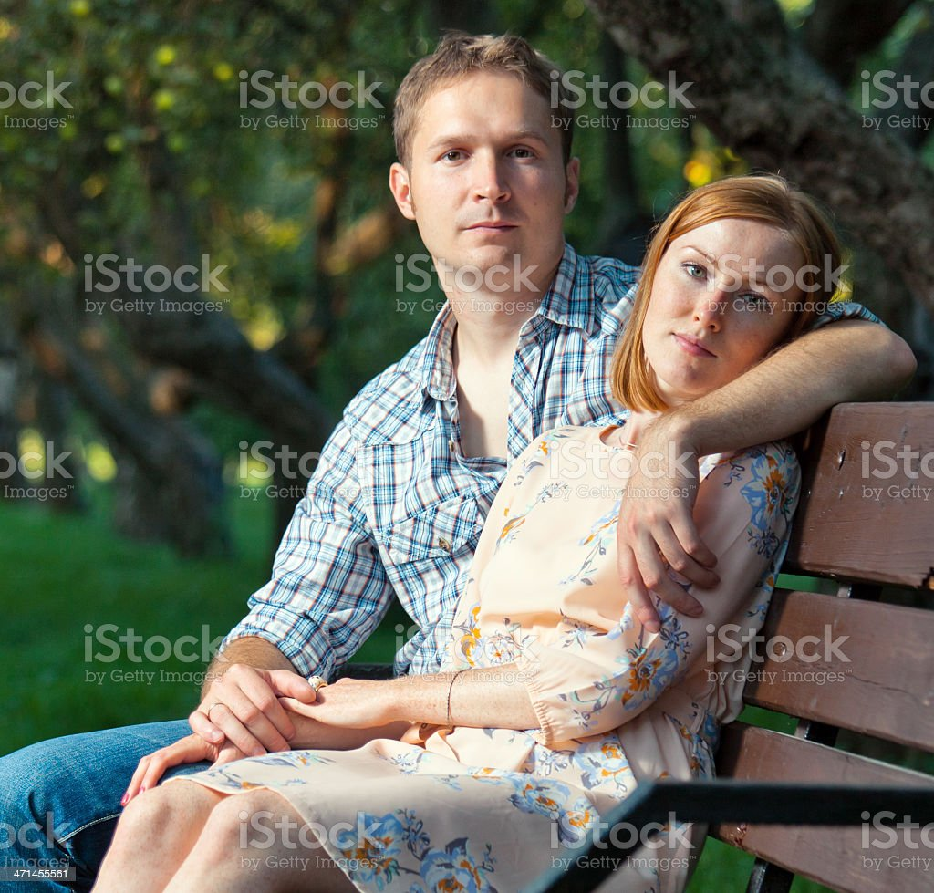 Portrait of young couple royalty-free stock photo