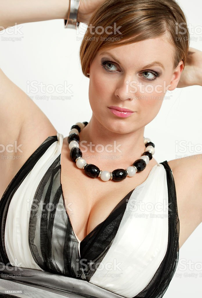 Portrait of young elegance woman stock photo