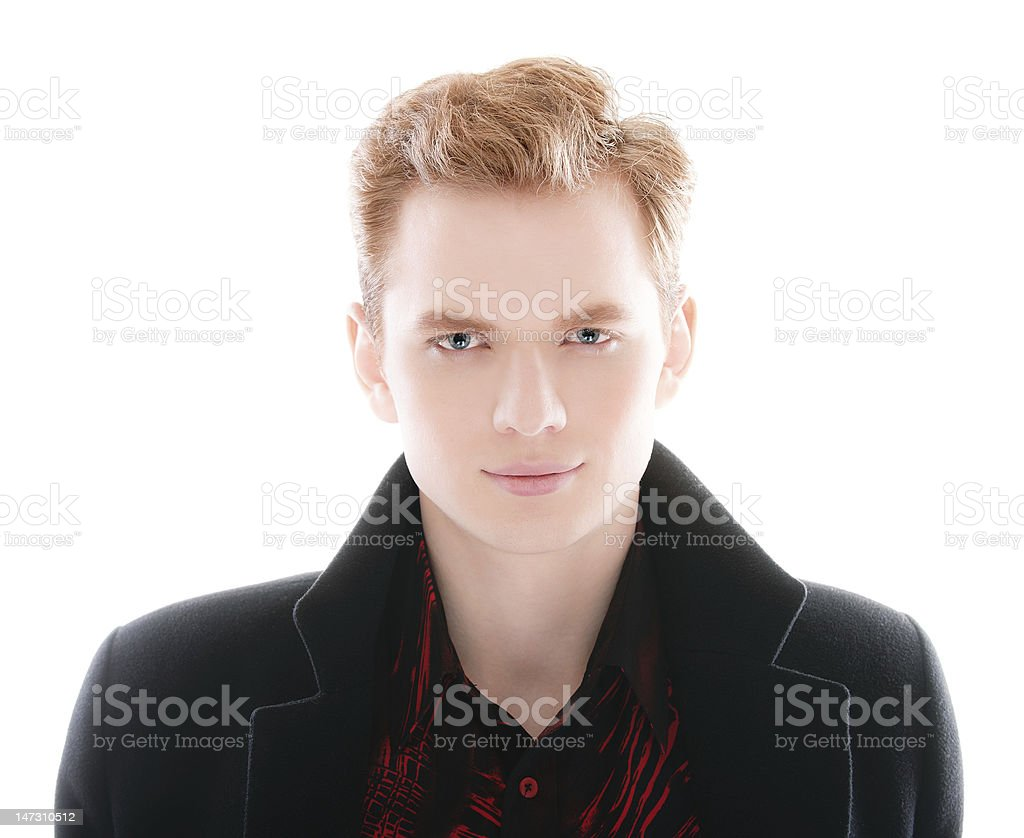 Portrait of young fair-haired man royalty-free stock photo