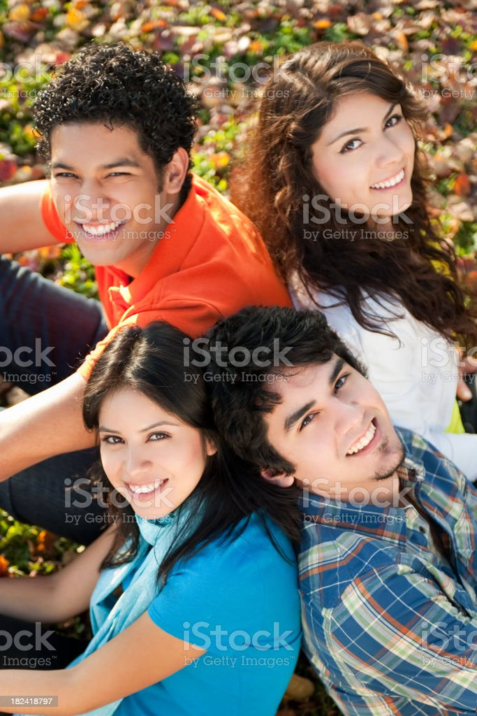Portrait of young friends royalty-free stock photo