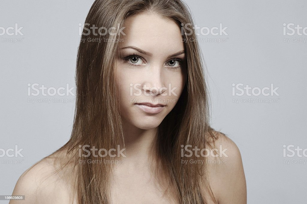 Portrait of young girl. royalty-free stock photo