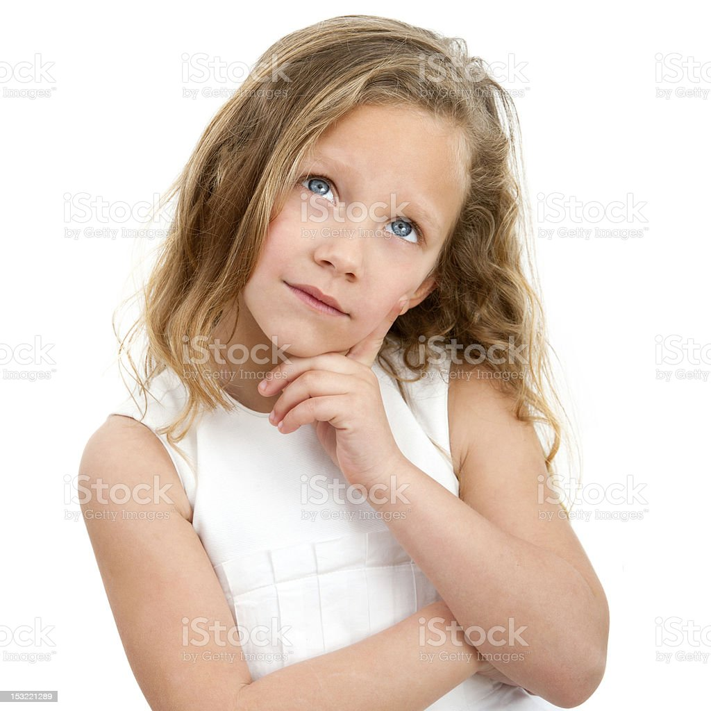 Portrait de jeune fille dans l'ignorance. photo libre de droits