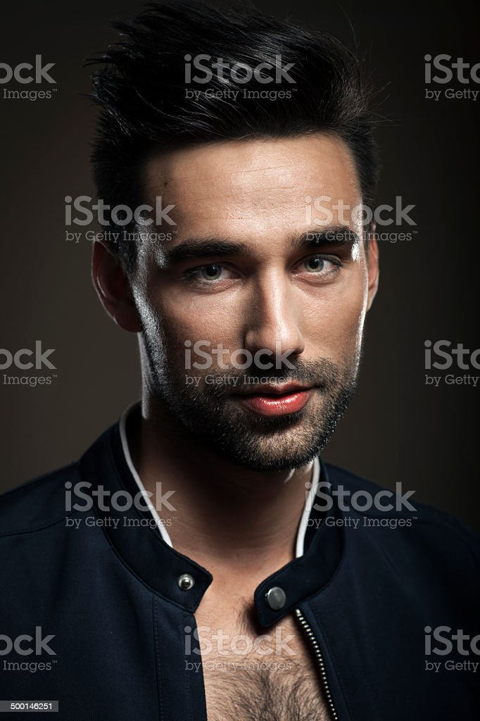 Portrait Of Young Handsome Man royalty-free stock photo