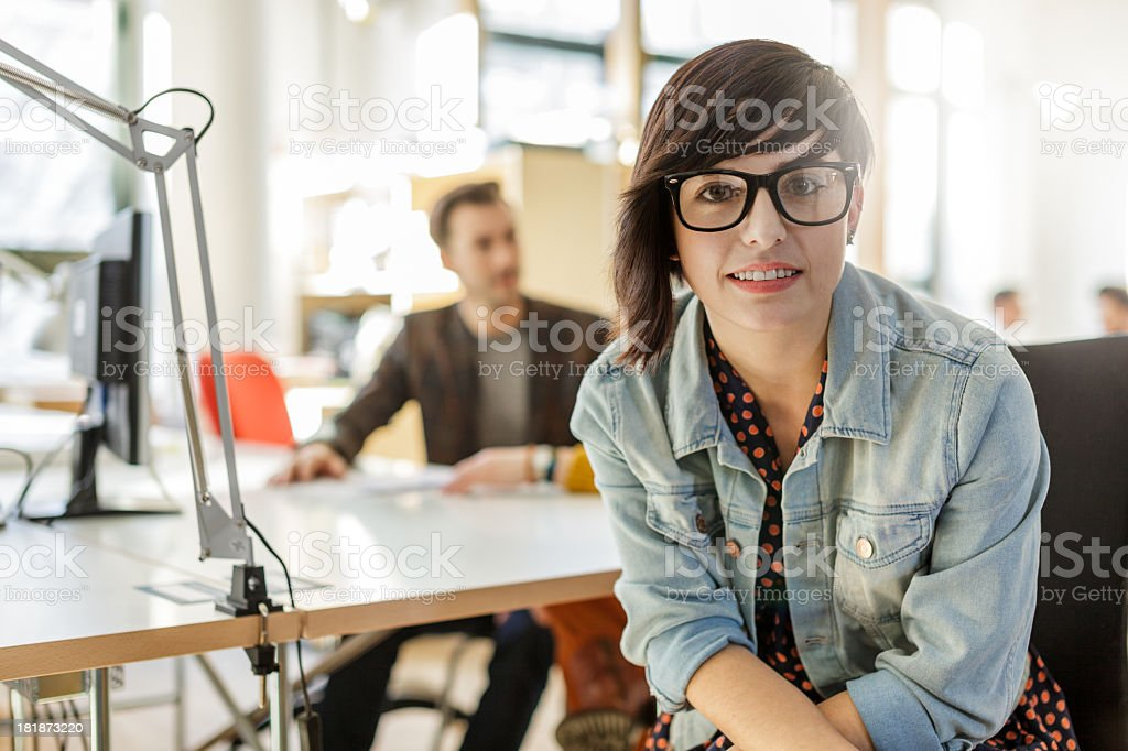 Portrait of Young Hispanic Businesswoman stock photo