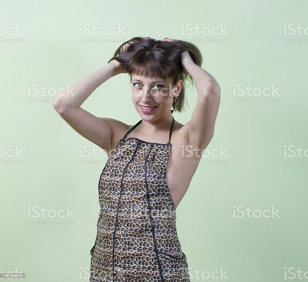 Portrait of young lady stock photo