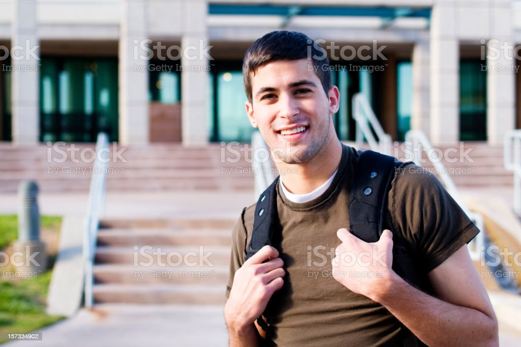 Male College Student stock photo