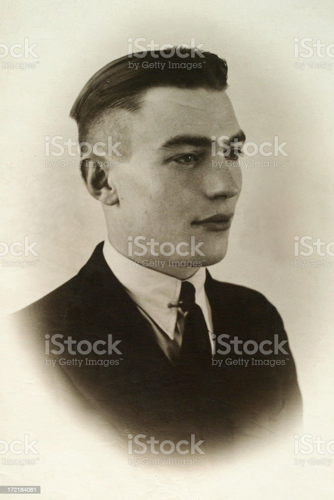 Portrait of young man in the thirties stock photo