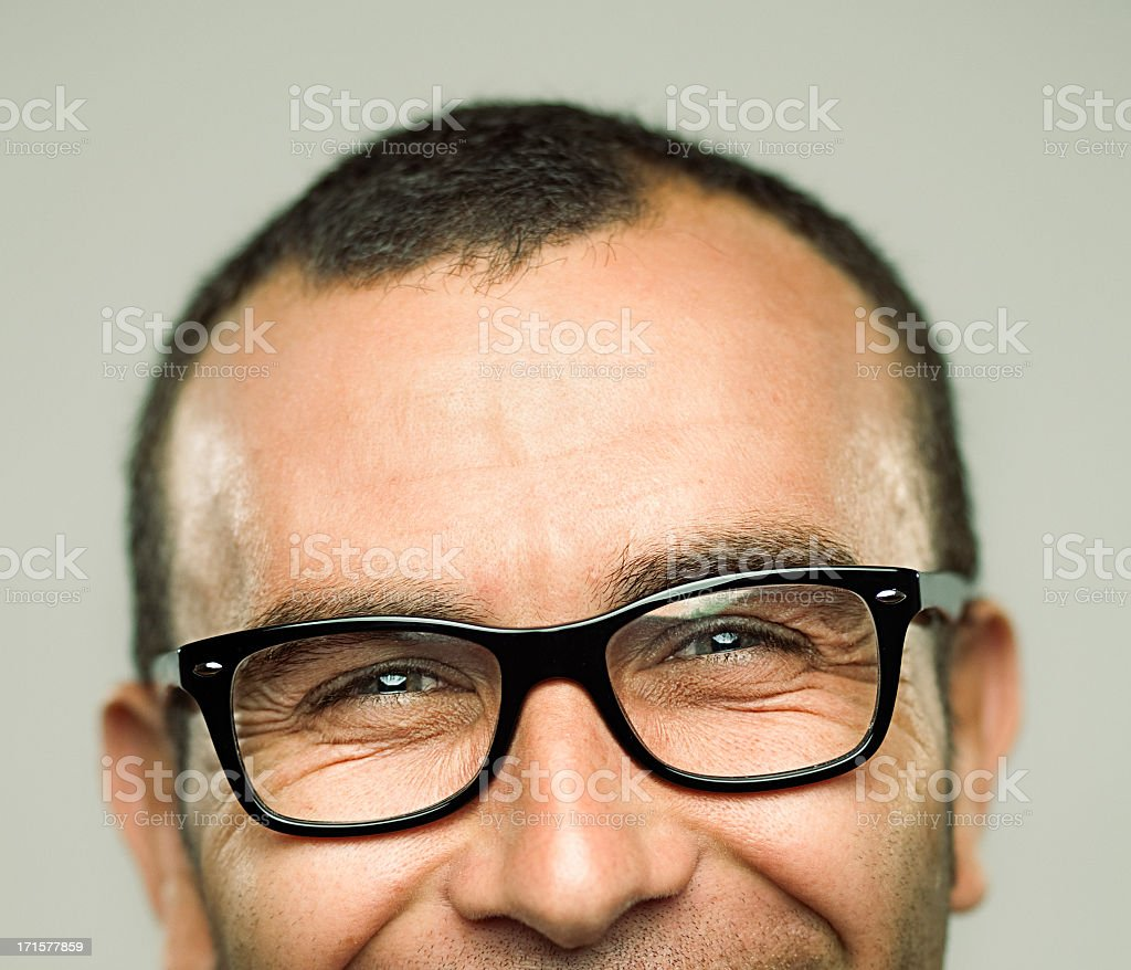 Portrait of Young Man laughing stock photo