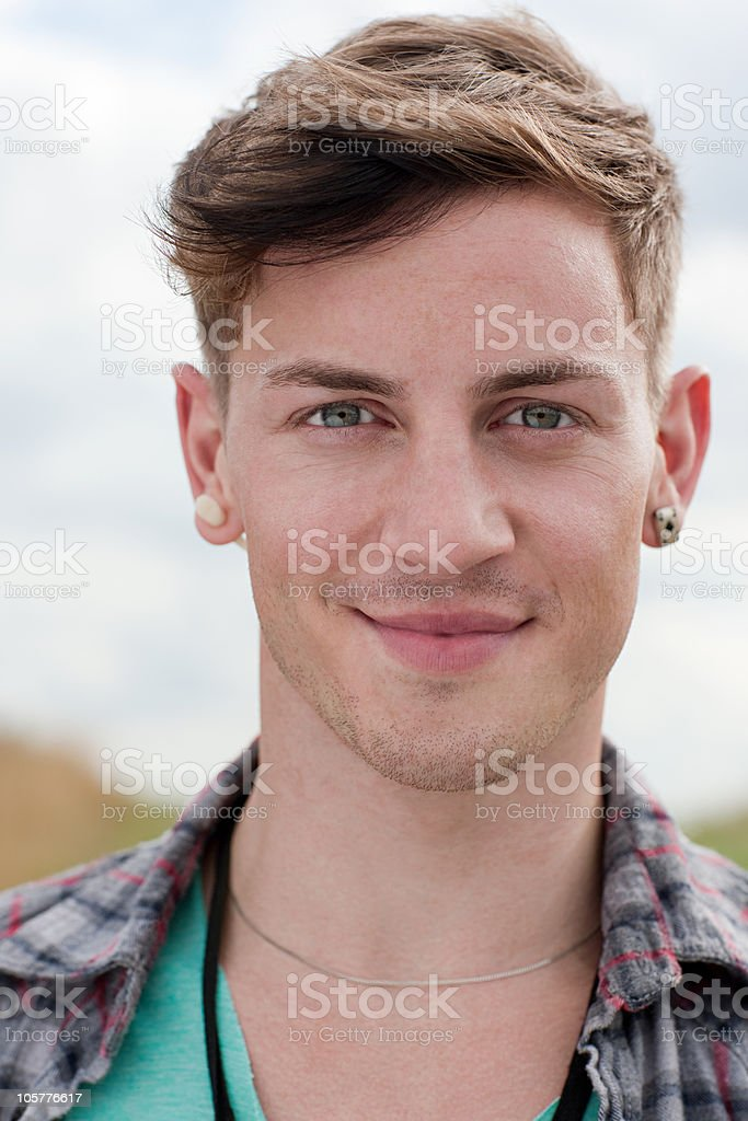 Portrait of young man stock photo