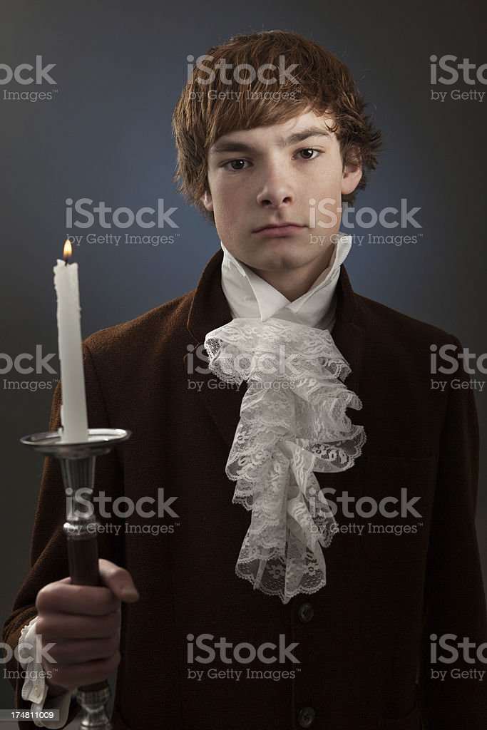 Portrait of Young Man Vintage Style royalty-free stock photo