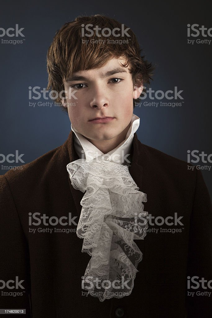 Portrait of Young Man Vintage Style stock photo