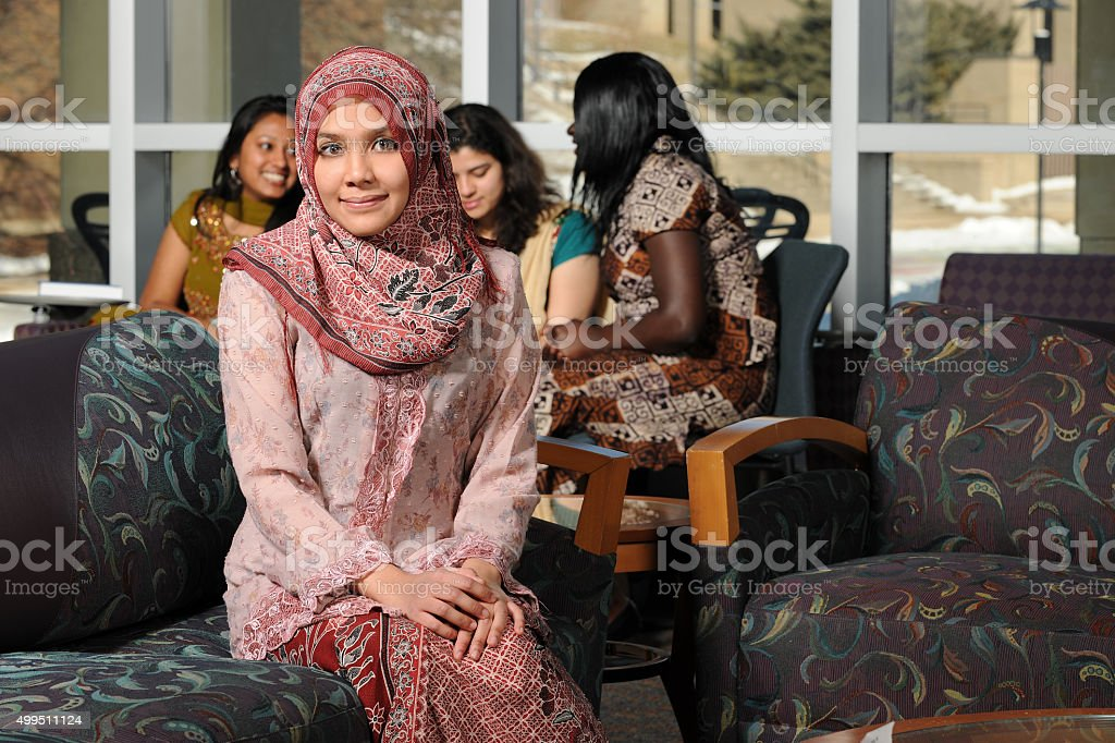 Portrait of Young Muslim Woman stock photo